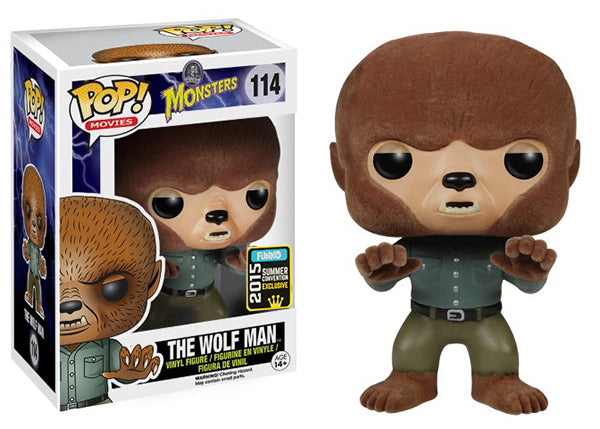 The Wolf Man (Flocked, Universal Monsters) 114 - 2015 Summer Convention Exclusive  [Condition: 8/10]
