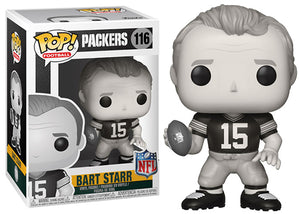 Bart Starr (Black & White, Packers, NFL) 116  [Damaged: 7/10]