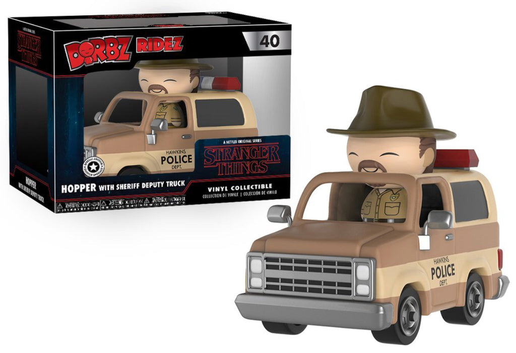 Dorbz Ridez Hopper w/Sheriff Deputy Truck Van (Stranger Things) 40  [Damaged: 7.5/10]