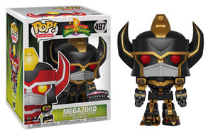 Megazord (6-Inch, Black & Gold, Power Rangers) 497 - Power Morphicon Exclusive  [Damaged: 6/10]