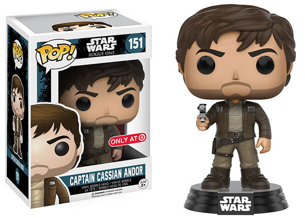 Captain Cassian Andor (Brown Jacket, Rogue One) 151 - Target Exclusive Pop Head