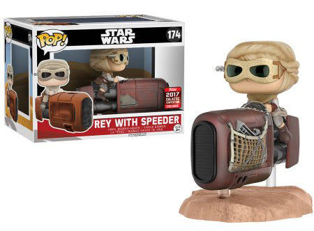 Rey with Speeder 174 - 2017 Galactic Convention Exclusive  [Condition 6.5/10]