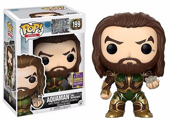 Aquaman (w/Motherbox, Justice League) 199 - 2017 Summer Convention Exclusive  [Damaged: 7.5/10]