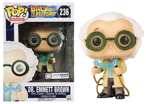 Dr. Emmett Brown (1955, Back to the Future) 236 - Loot Crate Exclusive Pop Head