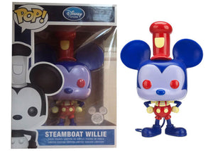 Steamboat Willie (9-inch, Blue & Red - Redux) - 2013 D23 Exclusive /250 Made  [Condition: 7.5/10]