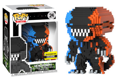 Xenomorph (8-Bit, Orange & Blue) 24 - Entertainment Earth Exclusive  [Damaged: 7.5/10]