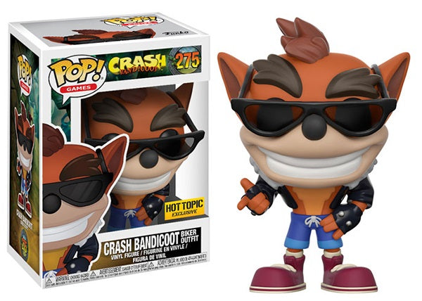 Crash Bandicoot (Biker Outfit) 275 - Hot Topic Exclusive