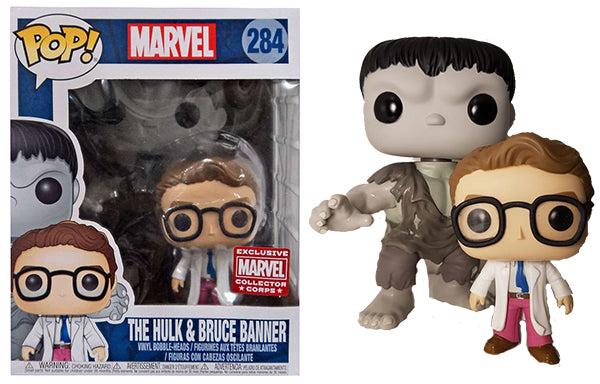 The Hulk & Bruce Banner 2-pack (6-inch) 284 - Marvel Collector Corps Exclusive  [Damaged: 5/10]