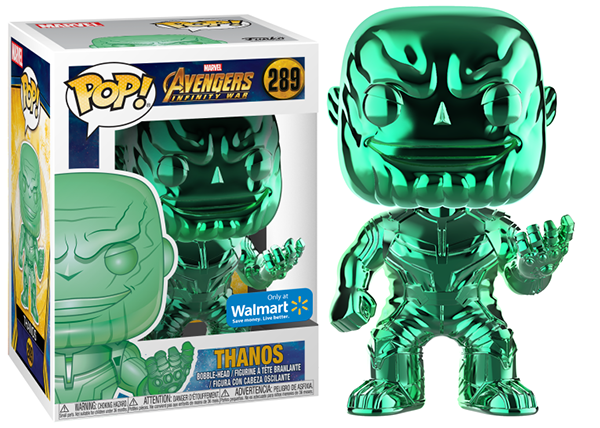 Thanos (Green Chrome, Infinity War) 289 - Walmart Exclusive  [Damaged: 7.5/10]