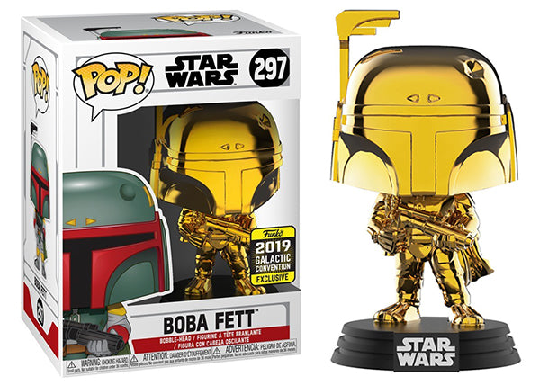 > Boba Fett (Gold Chrome) 297 - 2019 Galactic Convention Exclusive