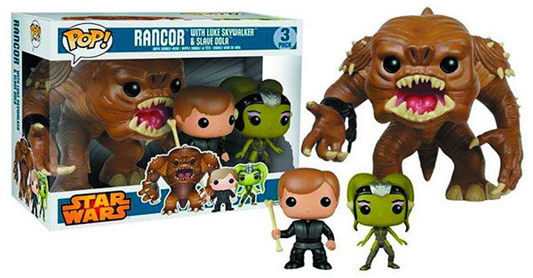 Rancor, Luke Skywalker & Oola 3-Pack Pop Head