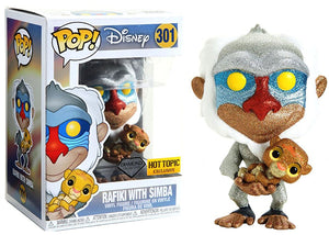 Rafiki w/Simba (Baby, Diamond Collection, Lion King) 301 - Hot Topic Exclusive  [Damaged: 7.5/10]