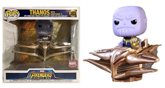 Thanos with Sanctuary 2 303 (Rides) -  Collectors Corps Exclusive  [Damaged: 6/10]