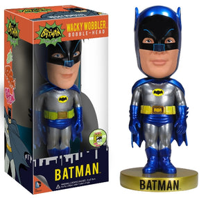 Funko Wacky Wobblers Batman (Metallic, Classic 1966 TV Show) - 2013 SDCC Exclusive /480 made  **Missing Sticker**  [Damaged: 7.5/10]