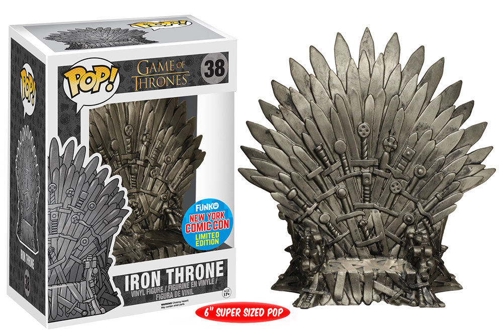 Iron Throne (6-Inch, Game of Thrones) 38 - 2015 NYCC Exclusive Pop Head