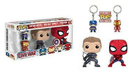 Spider-Man/Hawkeye Pops + Captain America/Iron Man Keychains 4-Pack Pop Head