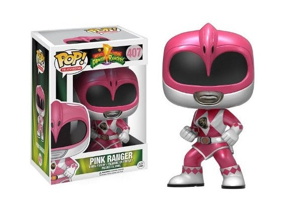 Pink Ranger (Metallic, Action Pose, Power Rangers) 407  [Damaged: 7.5/10]