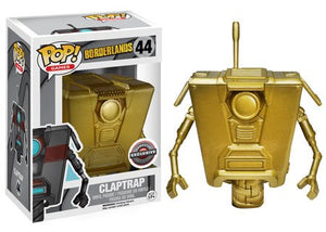 Claptrap (Gold, Borderlands) 44 - Gamestop Exclusive Pop Head