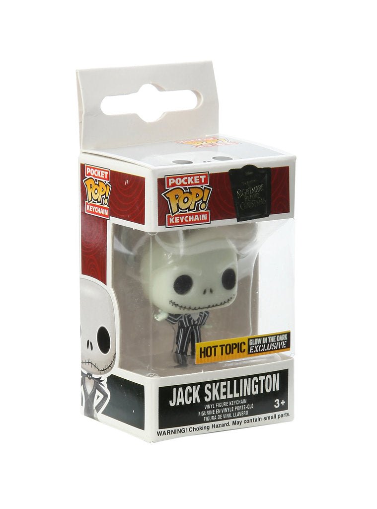 Pocket Pop Keychain Jack Skellington (Glow in the Dark, The Nightmare Before Christmas) - Hot Topic Exclusive
