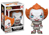 Pennywise (w/ boat, blue eyes Pop & box, IT) 472 [Damaged: 7.5/10]