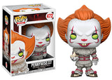 Pennywise (w/ boat, yellow eyes Pop & box, IT) 472  [Damaged: 7.5/10]