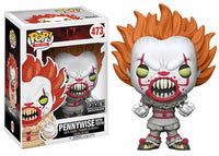 Pennywise (w/ teeth, yellow eyes Pop, IT) 473 - FYE Exclusive  [Damaged: 6/10]