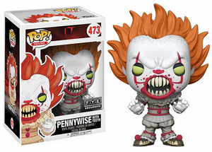 Pennywise (w/ teeth, yellow eyes Pop, IT) 473 - FYE Exclusive [Damaged: 7/10]
