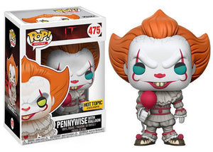 Pennywise (w/ Balloon, blue eyes on Pop, IT) 475 - Hot Topic Exclusive [Damaged: 7.5/10]