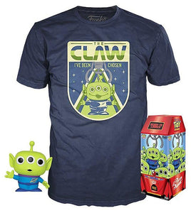 Alien (Glow in the Dark, Toy Story 4) & Claw Tee (L, Sealed) 525 - FYE Exclusive