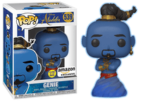 Genie (Glow in the Dark, Live Action, Aladdin) 539 - Amazon Exclusive  [Damaged: 7.5/10]