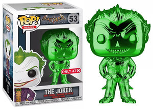 The Joker (Green Chrome, Arkham Asylum) 53 - Target Exclusive  [Damaged: 6.5/10]