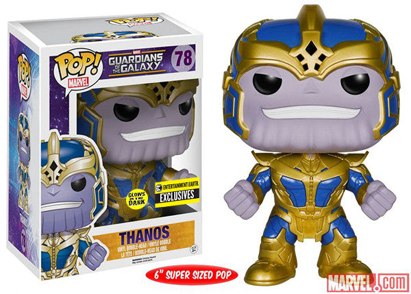 Thanos (Glow in the Dark, 6-inch) 78 - Entertainment Earth Exclusive Pop Head