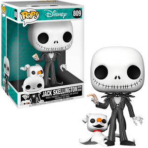 Jack Skellington w/ Zero (The Nightmare Before Christmas, 10-Inch) 809  [Damaged: 7/10]