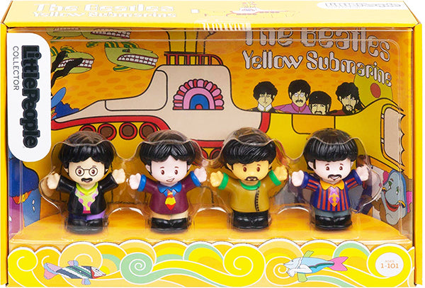 > Fisher Price Little People The Beatles Yellow Submarine Collectors Set