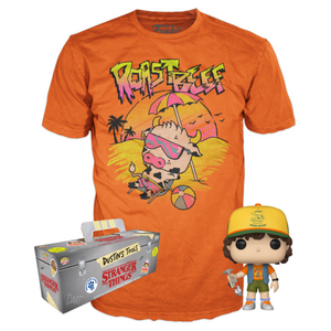 Dustin (Vest) and Roast Beef Tee (2XL, Unsealed) 828 - GameStop Exclusive  [Damaged: 6/10]