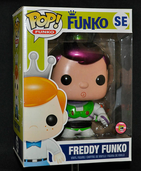 Giant Freddy Funko (9-Inch, Buzz Lightyear, Metallic) - 2013 SDCC Exclusive /24 Made  [Condition: 7.5/10]