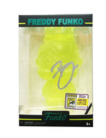 Mini Hikari Freddy Funko (Neon Yellow Glitter) - 2017 SDCC Exclusive /400 made **Signed by Brian Mariotti**