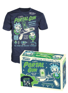 C-137's Portal Gun Shirt (Rick & Morty, M, Unsealed) - GameStop Exclusive
