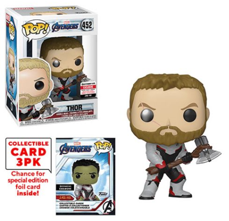 Thor (w/Trading Cards, Endgame) 452 - Entertainment Earth Exclusive  [Damaged: 7/10]