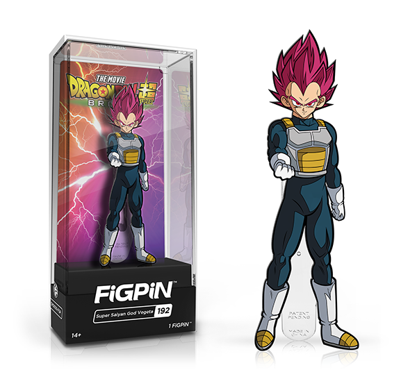 FiGPiN Dragon Ball Z - Super Saiyan God Vegeta 192 (hard case)