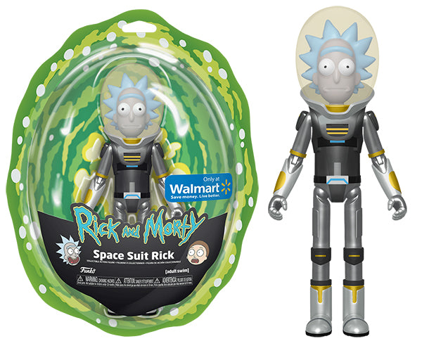 Articulated Action Figures Space Suit Rick (Metallic, Rick and Morty) - Walmart Exclusive  [Damaged: 7.5/10]