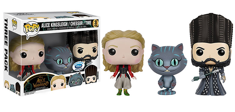 Alice Kingsleigh, Chessur & Time 3-pk (Alice in Wonderland) - Disney Store Exclusive /5000 Made  [Damaged: 7.5/10]
