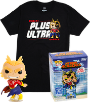 Silver Age All Might (Glow in the Dark) and Plus Ultra Tee (L, Sealed) 608 - Hot Topic Exclusive