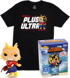 Silver Age All Might (Glow in the Dark) and Plus Ultra Tee (2XL, Unsealed) 608 - Hot Topic Exclusive
