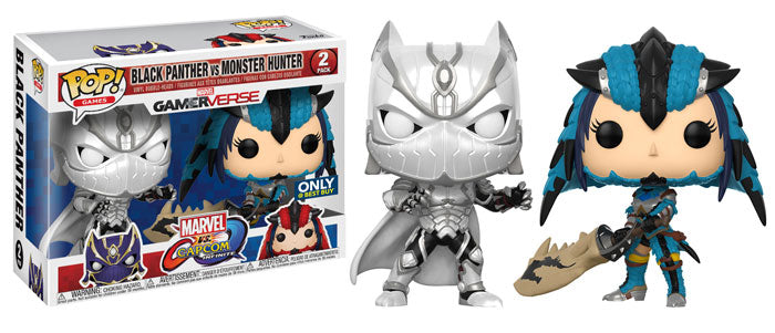 Black Panther (White) & Monster Hunter (Blue, Marvel vs Capcom) 2-pk - Best Buy Exclusive [Damaged: 7.5/10]