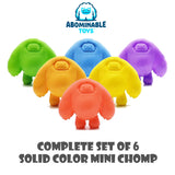 Complete Set of 6 Solid Color Mini Chomp by Abominable Toys