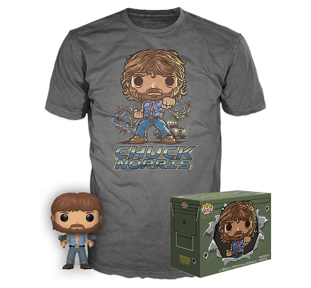 Chuck Norris (Micro Uzis) w/T-Shirt (S, Unsealed) 673 - Target Exclusive