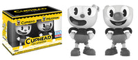 Funko Vinyl Cuphead & Mugman (Black & White) 2-pack - 2017 NYCC Exclusive /2500 made  [Damaged: 7/10]