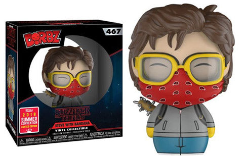 Dorbz Steve w/ Bandana (Stranger Things) 467 - 2018 Summer Convention Exclusive  [Damaged: 7.5/10]