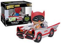 Dorbz Ridez Batman w/Batmobile (Chrome) 001 - 2016 Emerald City Comic Con Exclusive /500 Made  [Condition: 7.5/10]